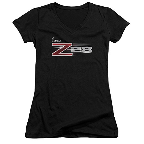 Price comparison product image Chevrolet Automobiles Chevy Camaro Z28 Juniors V-Neck T-Shirt Tee