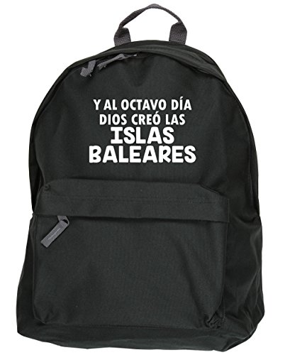 Hippowarehouse The Eighth Day God Created The Balearic Islands Kit Bag Dimensions: 31 X 42 X 21 Cm Capacity: 18 Liters Black