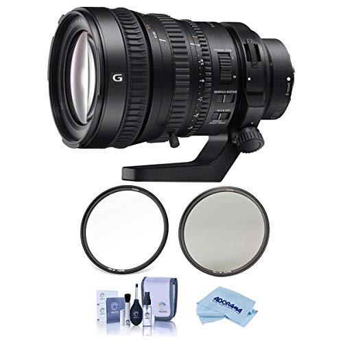 Sony FE PZ 28-135mm F4 OSS G E-Mount Lens - Bundle with Haida 95mm NanoPro MC Circular Polarizer Filter, Haida 95mm NanoPro MC Clear Filter, Cleaning Kit, Microfiber Cloth