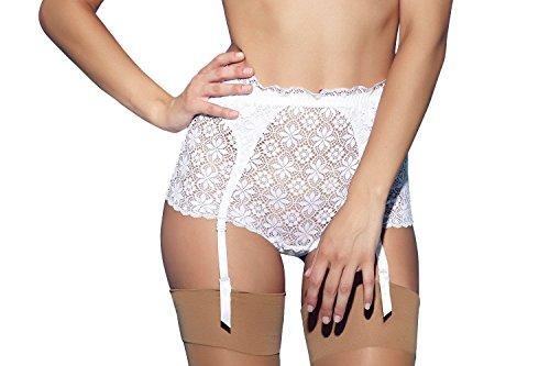 Jezebel Women's Lulu Garter Belt, White, ()