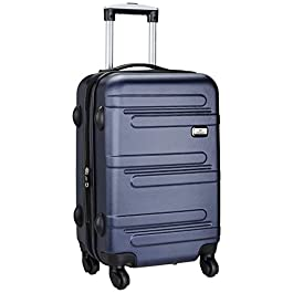 Princeware Melbourne DLX ABS 78 cms Navy Blue Hardsided Check-in Luggage (6743 -BL)