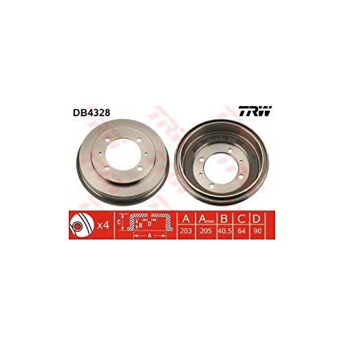 TRW DB4328 Brake Drums: