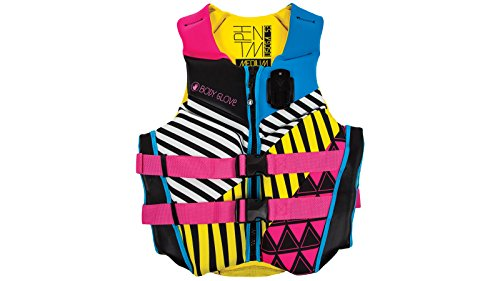 SPORT DIMENSION BODY GLOVE Women's Phantom Vests, Large, Yellow/Pink