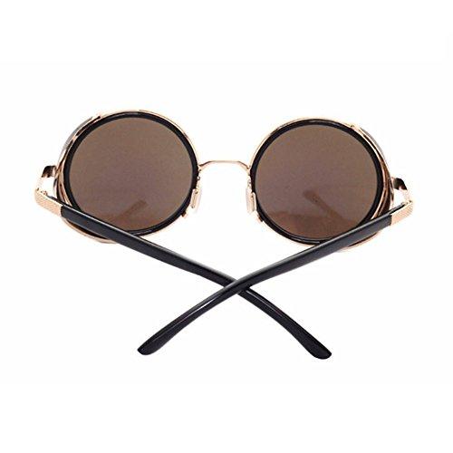 Aoligei Europe et Amérique Rock rétro Cassou lunettes steampunk ossature métallique Lunettes de soleil lunettes de soleil YhdkaSm