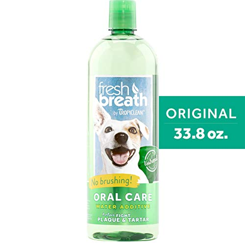 TropiClean Oral Care Water Additive for Pets, 33.8 Oz – Made in USA
