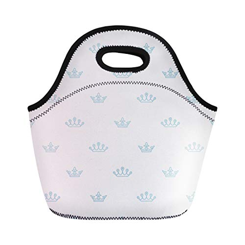 - Semtomn Lunch Bags Accessory Crown Symbol Elegant Designs and Packages Classic Simple Neoprene Lunch Bag Lunchbox Tote Bag Portable Picnic Bag Cooler Bag