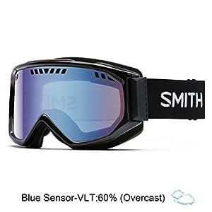 Smith Optics Adult Scope Snow Goggles,Black Frame/Blue Sensor Mirror