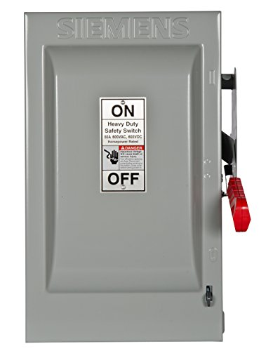 Square Safety D Heavy Duty Switch - Siemens HNF362 60-Amp 3 Pole 600-volt 3 Wire Non-Fused Heavy Duty Safety Switches