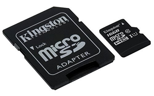 Kingston Digital 16GB microSDHC Class 10 UHS-I 45MB/s Read Card with SD Adapter (SDC10G2/16GB) 3 UHS-I interface - microSDHC/microSDXC Class 10 UHS-I is ideal for cinema-quality HD video (1080p) and photos of subjects (kids, pets, etc.) in motion. Durable - This versatile card has been tested to be waterproof temperature proof, shock/vibration proof and X-ray proof. So you can rest assured that your photos, videos, and other important files will be protected in harsh environments. Class 10 UHS-I speeds of 45MB/s read and 10MB/s write