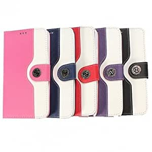 Flip PU Leather Wallet Case Stand For Samsung Galaxy Note 3 N9000 --- Color:Pink Red