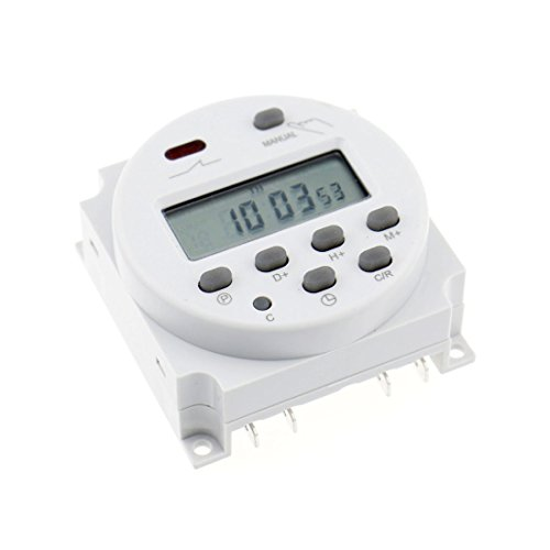 (Baomain CN101A DC 12V 16A Amps Digital LCD Power Programmable Timer Time Relay Switch Support 17-times Daily Weekly Program)
