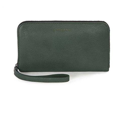Green Pochette - Tucano [ Regular Agency Products (Tsukano) Sicuro Premium Zipper Type Real Leather Pochette Unauthorized Access Protection Function Accessory Green, Medium