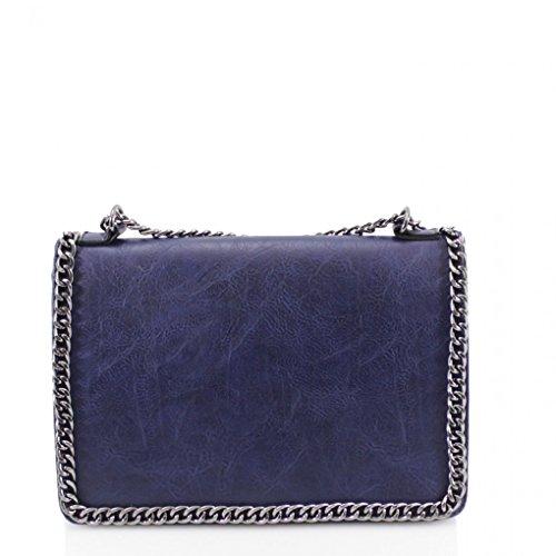 Ladies Chain Cross Small Bag Body Leahward Bow Women's Bags Size Strap Navy qnRqxp1w