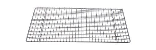 Professional Cross Wire Cooling Rack Half Sheet Pan Grate - 16-1/2 inch x 12 inch Drip Screen