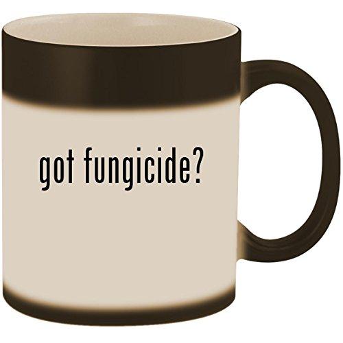 (got fungicide? - 11oz Ceramic Color Changing Heat Sensitive Coffee Mug Cup, Matte Black)