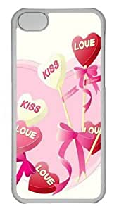 Iphone 5C Cases and Covers Kiss Love PC Shell Case Cover Protection for iPhone 5C - Transparent