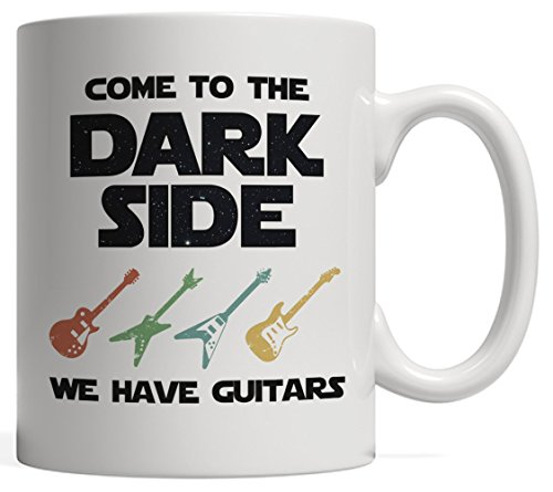 (Come to the Dark Side, We Have Guitars Mug | Funny Concert Star Musician Gift - Orchestra, Rock Music or Jazz!)