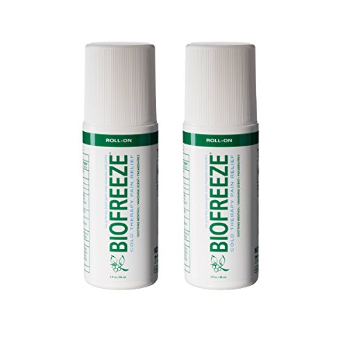 Biofreeze Pain Relief Gel, 3 oz. Roll-On, Fast Acting, Long Lasting, & Powerful Topical Pain Reliever, Pack of 2