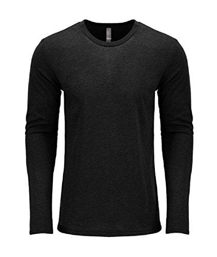 Next Level Men's Performance Blended Long Sleeve Jersey, X-Large, Vintage Black
