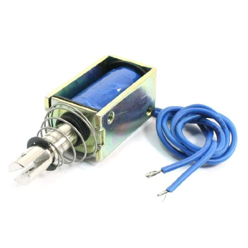Uxcell a14032200ux0077 Spring Load Pull Type Actuator, 10 mm, 10N Electromagnet Solenoid, DC 12V ()