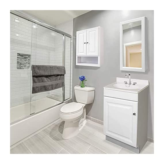 Design House 531731 Wyndham Ready-To-Assemble 2 Door Vanity, White, 24-Inches Wide by 31.5-Inches Tall by 18-Inches Deep - 24 in. W x 18 in. D x 31. 5 in. H Plenty of storage for toiletries to keep your countertop free of clutter Concealed hinges for a clean look - bathroom-vanities, bathroom-fixtures-hardware, bathroom - 41jKGc4 %2BIL. SS570  -