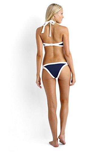 Bikini Set mujeres, IHRKleid® Internet Bandeau Traje de baño push up Azul