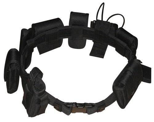 Police Utility Belt (Black Law Enforcement Tactical Equipment System)