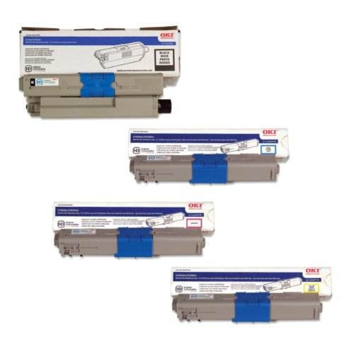 OkiData MC561 Toner Cartridge Set (OEM) Black.Cyan.Magenta.Yellow ()