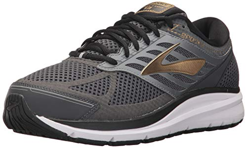 Brooks Men's Addiction 13 Black/Ebony/Metallic Gold 11 EE US