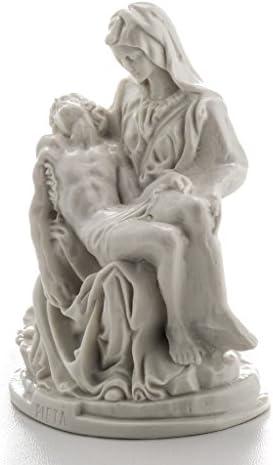 5.12 Inc. Holyart Estatua Piedad de Miguel /Ángel m/ármol Blanco 13-19 cm 13 cm