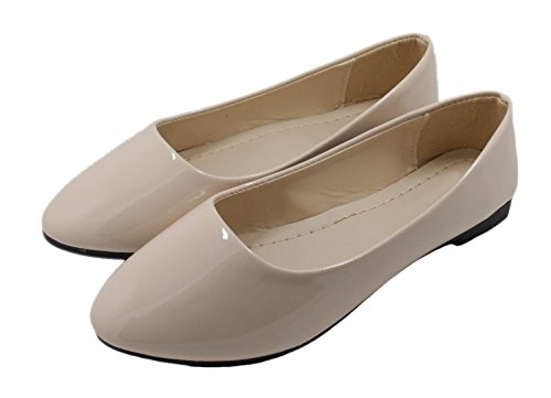 Wedding Simple Beige Flats Candy Loafers Work HooH Women's Color q1YTww