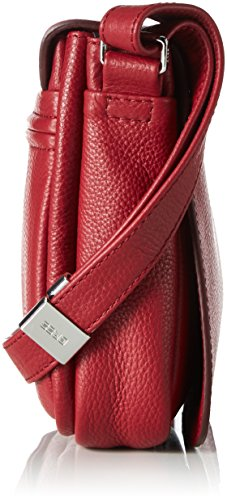 Unbekannt Lady Top 12 - Bolso de hombro Mujer Rot (Brick Red)