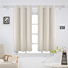Deconovo Decorations Blackout Curtains Panels Grommet Curtains Room Darkening Curtains Thermal Insulated Curtains for Bedroom 42Wx54L Inch 2 Panels Light Beige