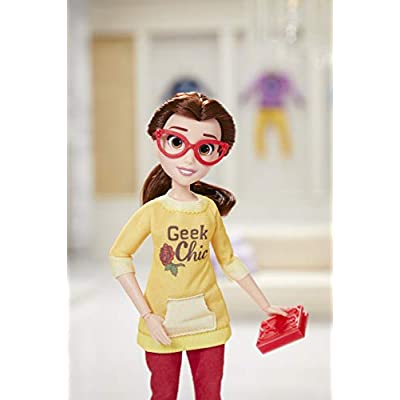 Disney Princess Comfy Squad Belle, Ralph Breaks the Internet Movie Doll with Comfy Clothes and Accessories: Toys & Games