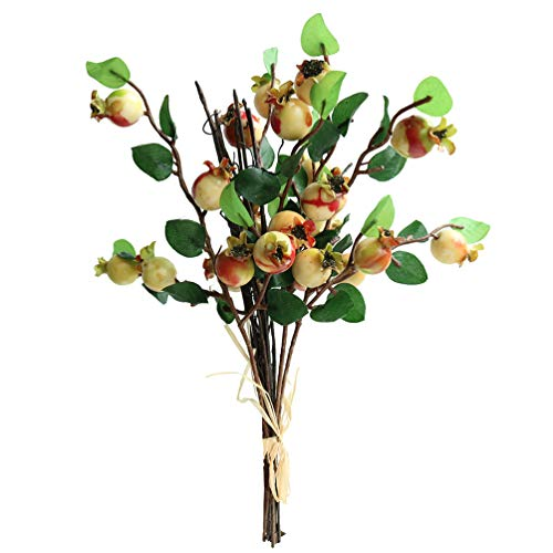 - Htmeing Group of 5 Artificial Rosehip Berries Flower Stem Spray Christmas Picks 13
