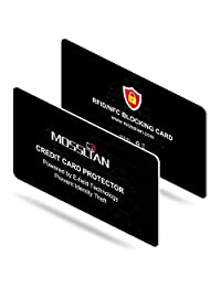 MOSSLIAN RFID Blocking Card:Bank Credit Card Protector-Protects Family and Friend's Entire Wallet-No Batteries Required/Tear Resistant/Waterproof Shield Card/Slim Design(1.2mm)(2 Packs)