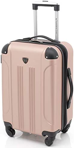 "Travelers Club 20"" Chicago Expandable Spinner Carry-On Luggage, Rose Gold"