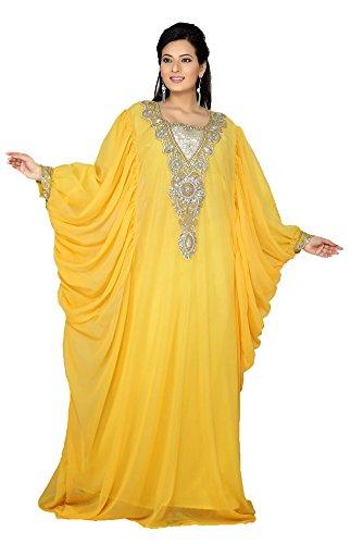 Maxi robe PalasFashion Caftan de Dubaï pour femmes KKPF17181