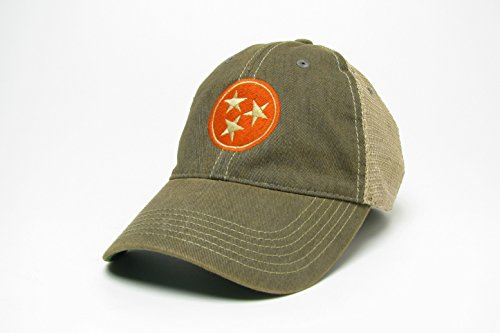PSF Tennessee Tri-Star Trucker Style Hat/Cap - 2 Colors - Gray and Navy (Gray)