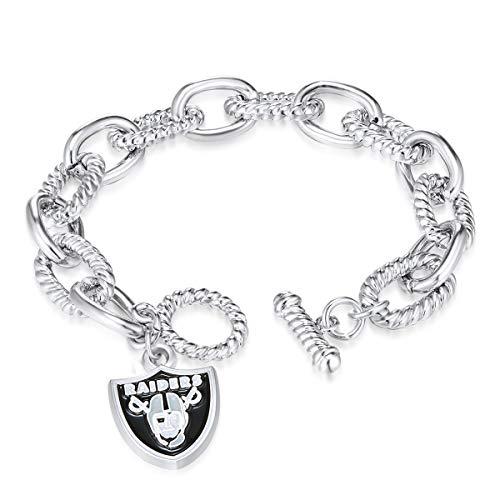 NFL Oakland Raiders Chain Link Logo Bracelet