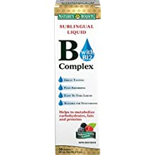 Nature's Bounty Sublingual Liquid B-Complex with B-12 2 Ounce