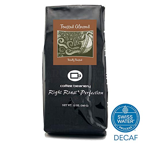 (Coffee Beanery Toasted Almond Flavored Coffee SWP Decaf 12 oz. (Very Fine))