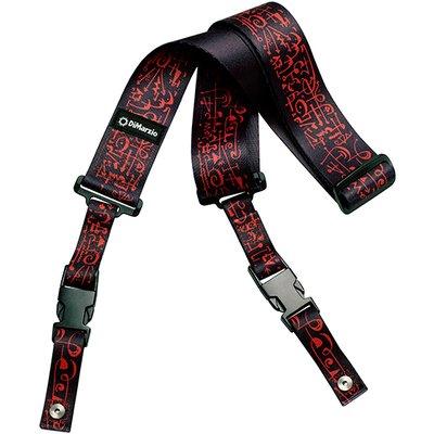 DiMarzio DD2243 Steve Vai Cliplock Art Strap Black w/Bonus RIS Pick (x1) 663334047600 (Dimarzio Guitar Strap)