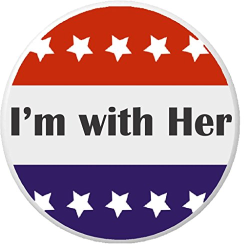 """I'm with Her Red White Blue Stars 1.25"""" Button Pin President Hillary (Hillary President Button)"""
