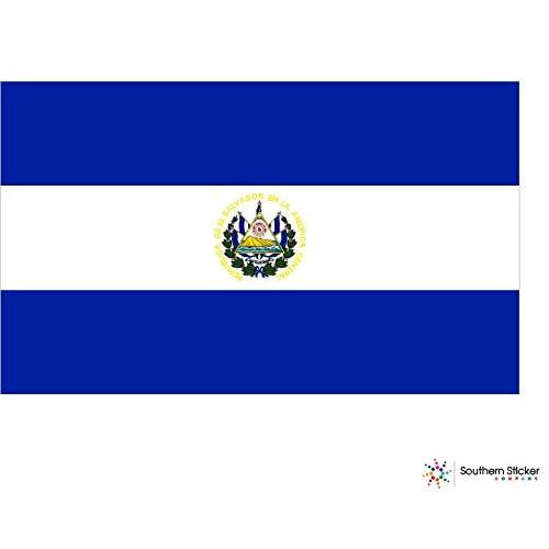 TRADE El Salvador Country Flag Reflective Decal Bumper Sticker