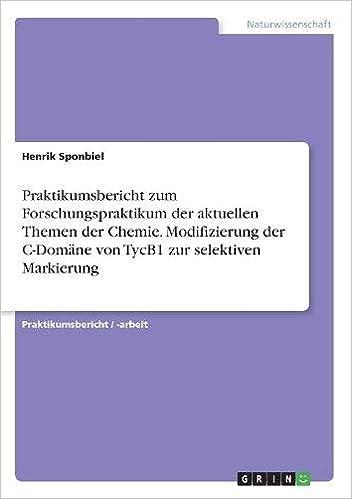 Chemie arbeit themen expose beispiel facharbeit