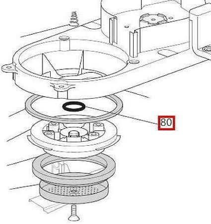 Delonghi - Junta de 12 mm OR 115 para cafetera Dedica Specialista EC685 EC850: Amazon.es: Hogar