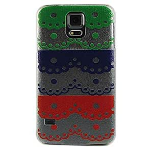 DUR Colorful Lace Flower Design Pattern Transparent PC Hard Case for Samsung Galaxy S5 I9600