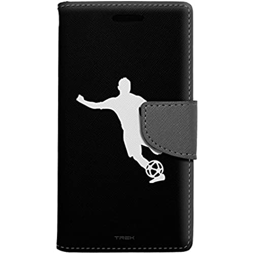 Samsung Galaxy S7 Edge Wallet Case - silhouette Soccer Player on Black Case Sales