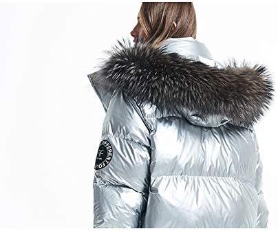 ZXCVAM Piumino Donna con Cappuccio Cappotti Invernali Leggeri Lungo Imbottito Cappotto Piumino Caldo Capispalla Stile Europeo e Americano
